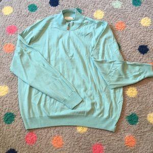 Other - Aqua half zip sweater.